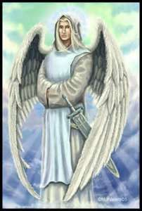 """Archangel Ramiel,  """"Thunder of God"""" Remiel is the angel of hope, and he is credited with two tasks: he is responsible for divine visions, and he guides the souls of the faithful into Heaven."""