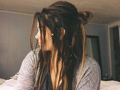 #dreadlocks #wonderlocks #momswithdreads #momlife #dreads Half Dreads, Dyed Dreads, Partial Dreads, Dreadlocks Girl, Half Dreaded Hair, Cute Dreads, Goddess Locks, Female Dreads, Dread Hairstyles