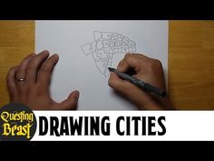 (7) How to Draw Medieval Cities: Fantasy Mapmaking Tutorial for DnD - YouTube