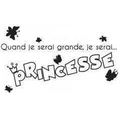 Sticker Je serai princesse