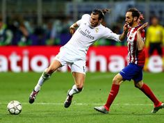 May 28th. 2016: Gareth Bale on the attack for Real Madrid in the Champions League final against neighbours Atletico