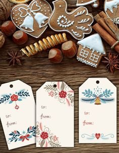 Free Printable Holiday Gift Tags from Hoopla House