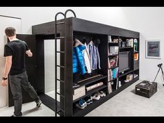 smart furniture for 40m2 apartments - YouTube