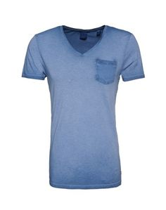 SCOTCH & SODA Tshirt mit V-Ausschnitt blau