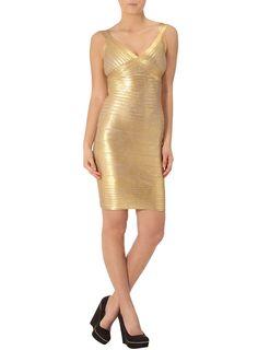 Kardashian gold bodycon dress  #DPKK