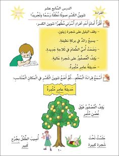 Sample Page # 5 From 1st Grade Part 2 Learning Arabic Language Workbook