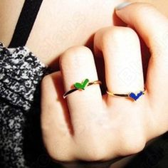 Discount China china wholesale Drop Of Oil Colored Glaze 5 Times Gold Love Ring 6466 [6466] - US$0.99 : Bluelans