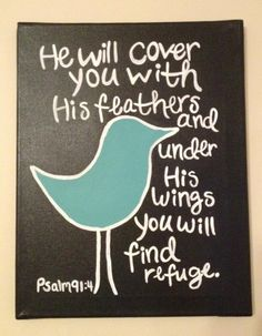 Psalm 91:4 one of my moms favorite versus.