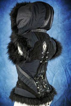 Ayyawear winter vest, women's version, alternative fashion #steampunk #goth #gothic