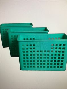 Any type of small-ish plastic basket.  Any color!