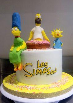 Simpsons Cake, The Simpsons, Birthday Cake, Cakes, Desserts, Food, Design, Birthday Cakes, Meal