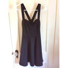 Forever 21 skater dress Black, crosses in the back Forever 21 Dresses