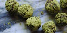 cocoa-matcha energy balls