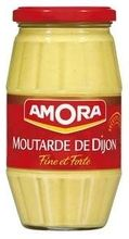 AMORA MUSTARD (FAMILY JAR) $5.50 Amora Dijon mustard can be found in most French kitchens, for a good reason. This French staple is just what you need to make a perfect vinaigrette.  Amora mustards have been produced since the 1930's. Today Amora is the French condiment leader.  440 grams / 15.5 oz