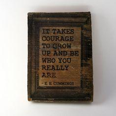 photo blocks, cum, art prints, growing up, read books, wood blocks, inspir, quote art, true stories