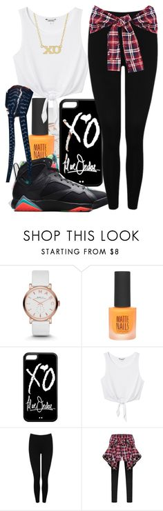 """""""I'm hardly ever angry rodger rabbit framed me mama I'm the same fúcking kid that you made see i don't want to go jail i just wanna go home and for the fúcking kids to leave me alone"""" by she-trill ❤ liked on Polyvore featuring Marc by Marc Jacobs, Topshop, xO Design, Monki, M&Co and Jennifer Meyer Jewelry"""