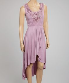 Look what I found on #zulily! Purple Crocheted Hi-Low Dress by SR Fashions #zulilyfinds