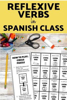 Are you practicing daily routine and reflexive verbs in your Spanish class? Check out this puzzles, printables, worksheets, speaking activities, and games to use with your middle school and high school students! Digital and printable options are included so you can use these simple lesson plans for your Spanish classroom! Master los verbos reflexivos with these easy to use station activities and review games that are no or low prep and so fun! Spanish Classroom, Teaching Spanish, Middle School Spanish, Spanish Lesson Plans, Spanish 1, Perfume, Review Games, Vocabulary Words, High School Students