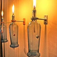 After the party: many ways to upcycle glass bottles!