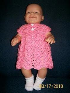 Easy crochet Ripple Chevron Baby Dress Pattern FREE