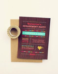 Engagement Party Invitations - Ann-Marie Loves Paper