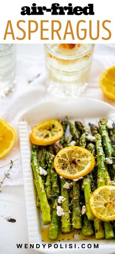 This fast and easy Air Fried Asparagus is a recipe I turn to again and again. Here I pair perfectly cooked crisp-tender asparagus with a kick of garlic and top it off with zippy lemon juice, lemon zest and creamy goat cheese. This is a tried and true weeknight keto staple that comes together in a flash. It is simply the BEST. No air fryer? You can make this in the oven too. Gluten Free Recipes For Dinner, Healthy Gluten Free Recipes, Healthy Recipes For Weight Loss, Healthy Dinner Recipes, Vegetarian Recipes, Potato Side Dishes, Veggie Side Dishes, Side Dish Recipes, Fried Asparagus