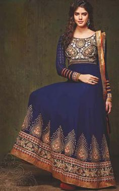 New Indian Jacket Style Dresses Anarkali Suits 2015 Collection for Women | StylesGap.com