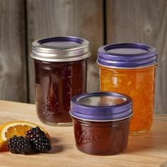 The Limited Edition Ball Color Series Lids in purple are a pretty touch to any mason jar. Get them while supplies last!