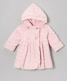 Take a look at this Pink Twist Faux Fur Bubble Coat - Toddler & Girls by Corky & Company on #zulily today!