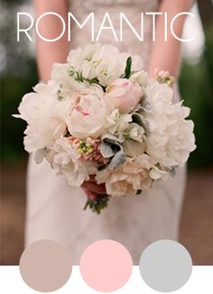 For a soft romantic bouquet the color palet with lavender, pink and a soft gray will create a stunning bouquet to remember..