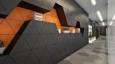 office interior orange blue - Google Search