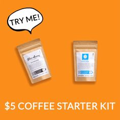 Try this coffee starter kit for only $5! Coffee Subscription, Cafe Logo, Easy Coffee, Coffee Tasting, Coffee Branding, Starter Kit, Coffee Shop, Beans, Fun Things