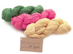 This silk and merino wool blend is beautifully hand dyed and hand spun to create a gorgeous and soft yarn and would make a fabulous addition to any stash. Plus, it is made by Manos del Uruguay, a yarn company that aims to help women in Uruguay become economically independent and gain enhanced roles in their society.  Click the image to choose your color and knit yourself a fantastic summer shawl or scarf and support the effort to empower women in Uruguay! Repin to spread the word!
