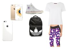 """PokemonHunting1"" by lildae on Polyvore featuring MaxMara, Converse and adidas"