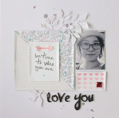 #papercraft #scrapbook #layout. love you by Eyoung Lee at @studio_calico