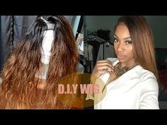 Middle Part U-Part Wig Tutorial NO SEWING under $40 - YouTube