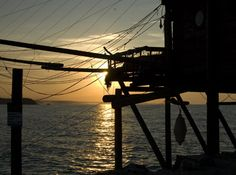 You've got to love Abruzzo's trabocco! Romantic sunset photograph #Italy #photography
