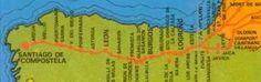 Camino de Santiago Map.