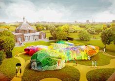 Serpentine Pavilion 2015 designed by SelgasCano render day