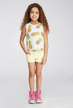 Pineapple Graphic Muscle Tee (Kids)   Forever 21 girls - 2000115466