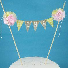 Pink Lemonade Smash Cake burlap banner First by Hartranftdesign