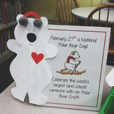 February 27th, National Polar Bear Day Craft!