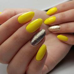 Almond-shaped nails, Fashion nails 2018, Foil nail art, Manicure 2018, Summer nails 2018, Summer nails to the sea, Vacation nails, Vivid nails