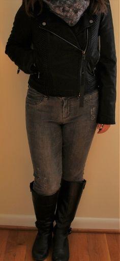 4th Fix, September 2016: Blank NYC Bremer Faux Leather Moto Jacket (AKA the start of my Halloween costume--Jessica Jones)