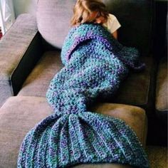 Blankets As Crocheted Mermaid Tails Artist Redesigns Size:L BLUE | Other Home & Garden | Gumtree Australia Manningham Area - Doncaster | 1107227763
