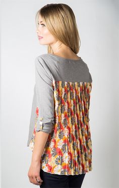 Fall Back Top- Frost Grey
