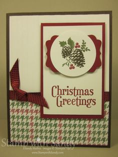 Stamp With Sandy: Holiday Stamp-A-Stack, Pines & Poinsettias