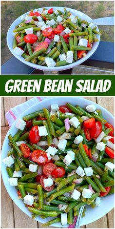 Green Bean Salad recipe from RecipeGirl.com #green #bean #salad #recipe #RecipeGirl Fun Easy Recipes, Vegetarian Recipes Easy, Healthy Eating Recipes, Spicy Recipes, Summer Recipes, Healthy Meals, Delicious Recipes, Green Bean Salads, Green Bean Recipes