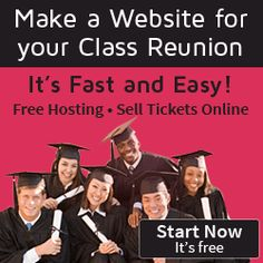 Planning tips and ideas for your high school reunion. This class reunion planner will make planning a class reunion or high school reunion very easy. High School Class Reunion, 10 Year Reunion, The Reunion, High School Classes, High School Seniors, Class Reunion Ideas, Class Reunion Invitations, Sell Tickets Online, Party Like Its 1999