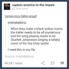 Yes please, just a Black Widow movie at least!